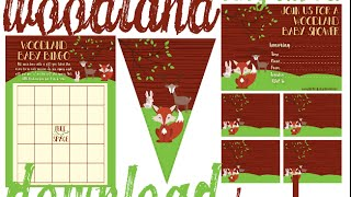 Woodland Baby Shower Decorations, Invites & Games!