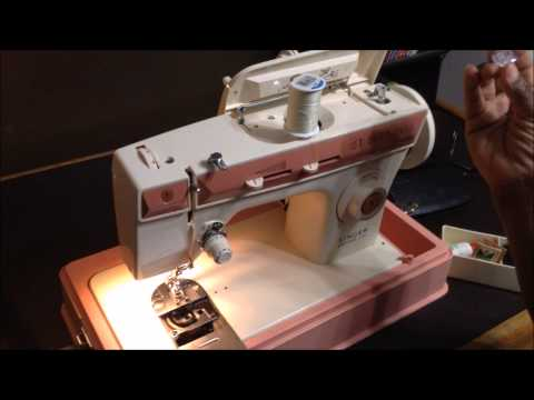 How To Thread Bobbin On Singer Merritt 40 Sewing Machine Thread Bobbin Beauteous How To Thread Bobbin On Singer Sewing Machine