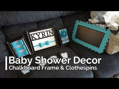 Baby Shower Decor~ Chalkboard Frame