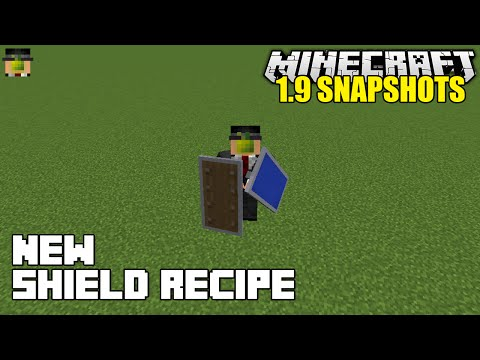 Minecraft 1.9 Snapshots 15w37a | New Shield Recipe - How To Craft and Repair Shields