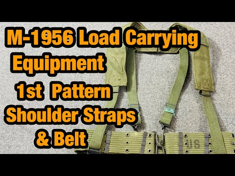 M-1956 Load Carrying Equipment 1st Pattern Suspenders And Pistol Belt