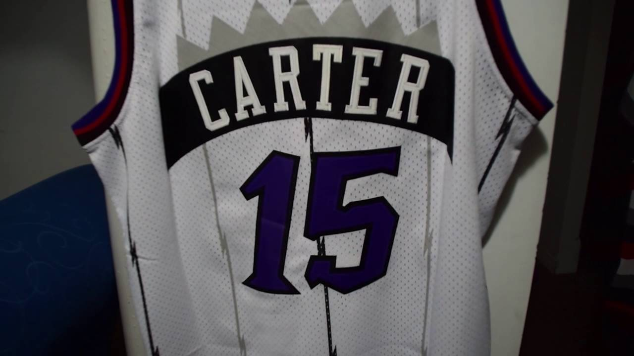 Toronto Raptors Vince Carter Home Jersey Review - YouTube 02d57d907