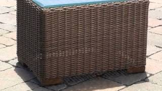 Patio Wicker End Table - South Beach - Wickerparadise.com