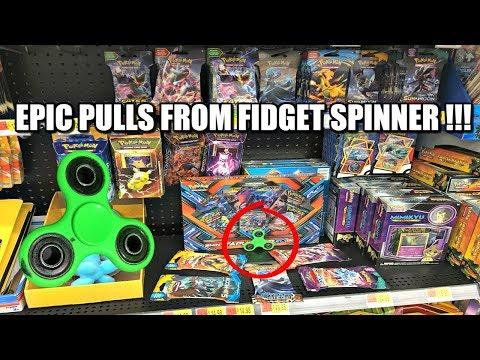 IT WORKED! MAGIC FIDGET SPINNER PICKS POKEMON CARD PACKS FOR OPENING!