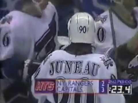 Sergei Gonchar assist on Joe Juneau in his second NHL season (1996)