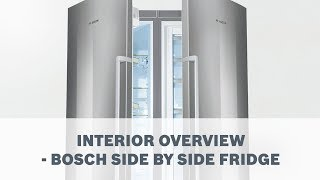 Interior Overview - Bosch Side By Side Fridge