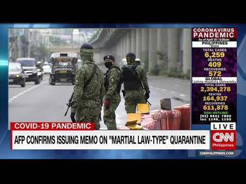 "AFP confirms issuing memo on ""martial law-type"" quarantine"