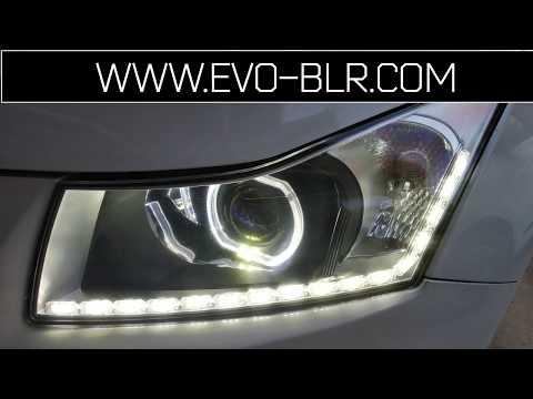 EVO Bangalore : Chevrolet Cruze Audi Matrix Style DRL Indicator Test