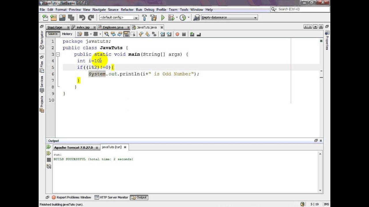 Java Program to Check Whether a Number is Even or Odd