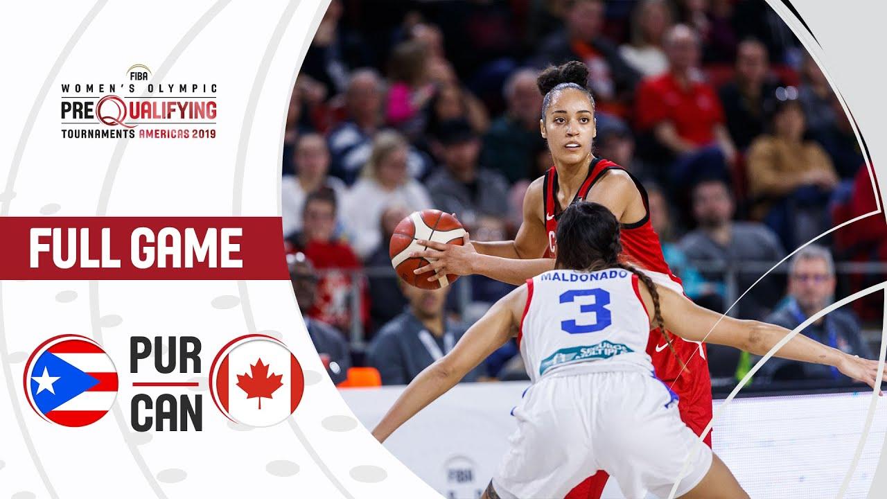 Puerto Rico v Canada - Full Game - FIBA Women's Olympic Pre