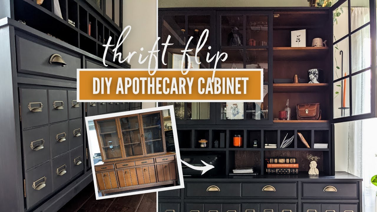 i thrift flip the apothecary cabinet of my dreams 😍 | DIY THRIFT FLIP
