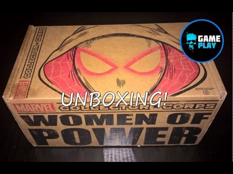 Marvel Collectors Corp Unboxing Women Of Power Spider-gwen Captain Marvel She Hulk Funko Pop