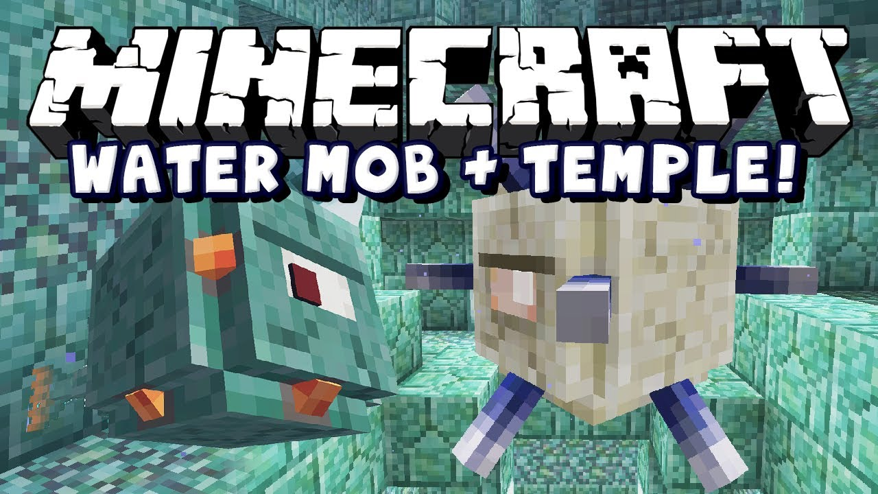 Minecraft Snapshot 9w9a - Water Boss And Temple!!