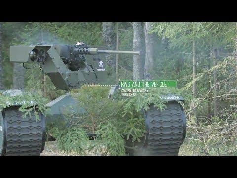 Milrem - Estonia Tracked Hybrid Modular Infantry System (THeMIS) UGV Combat Simulation [720p]