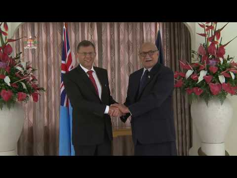 Fijian President receives Credential from the Ambassador of the State of Israel.