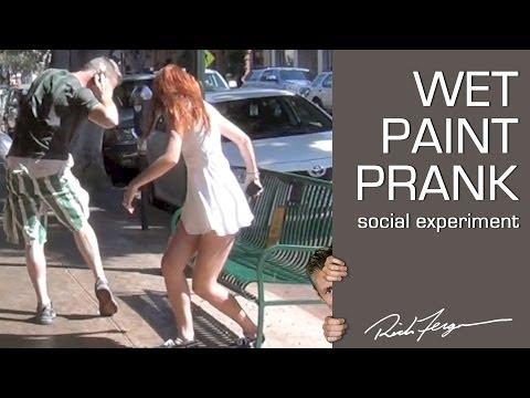 Psychological WET PAINT PRANK - Social Experiment