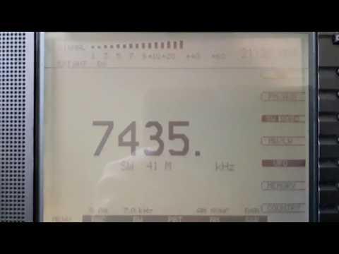 Radio Free Asia 7435 Khz , Tinian con Eton E1 desde Mendoza (ARG)