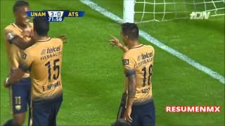 Pumas UNAM 5-0 Atlas Jornada 4 JORNADA DOBLE Apertura 2015 UnivisionTDN