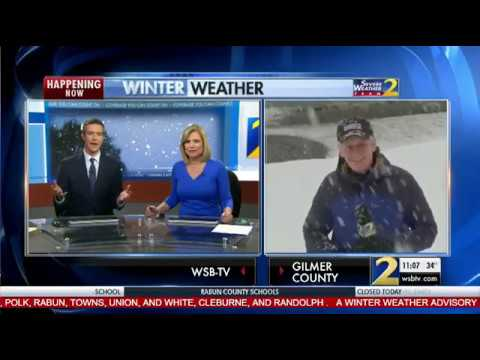 Snow coverage from across north Georgia