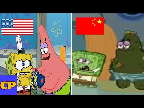 KID CARTOONS THAT LOOK TOTALLY DIFFERENT IN OTHER COUNTRIES