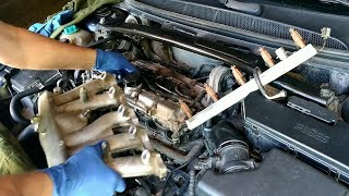 Volvo S80, cleaning of ventilation of crankcase gases