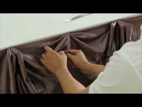 การจับจีบผ้า (ผ้าปูโต๊ะ) สำหรับงานพิธีการ