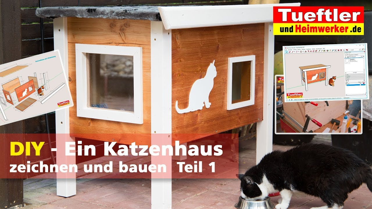 outdoor katzenhaus selbst gebaut teil1 t ftler diy. Black Bedroom Furniture Sets. Home Design Ideas