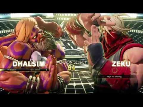Street Fighter V AE - Exhibition EvoZero(Zeku) vs An-To-Ny(Dhalsim)
