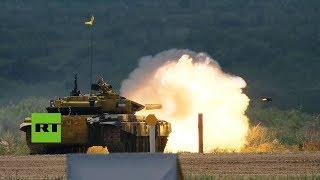 Día 1: Un biatlón de tanques abre los IV Juegos Militares Internacionales en Rusia