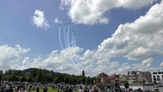 Patrouille Suisse - Spectacular Air Show at RIGA Uzwil, Switzerland - F-5E Tiger in action!!