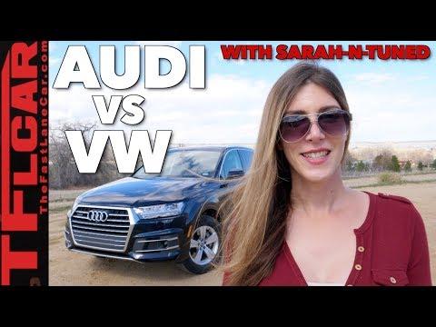 2018 Audi Q7 vs VW Atlas: Flying Business Class or Economy?