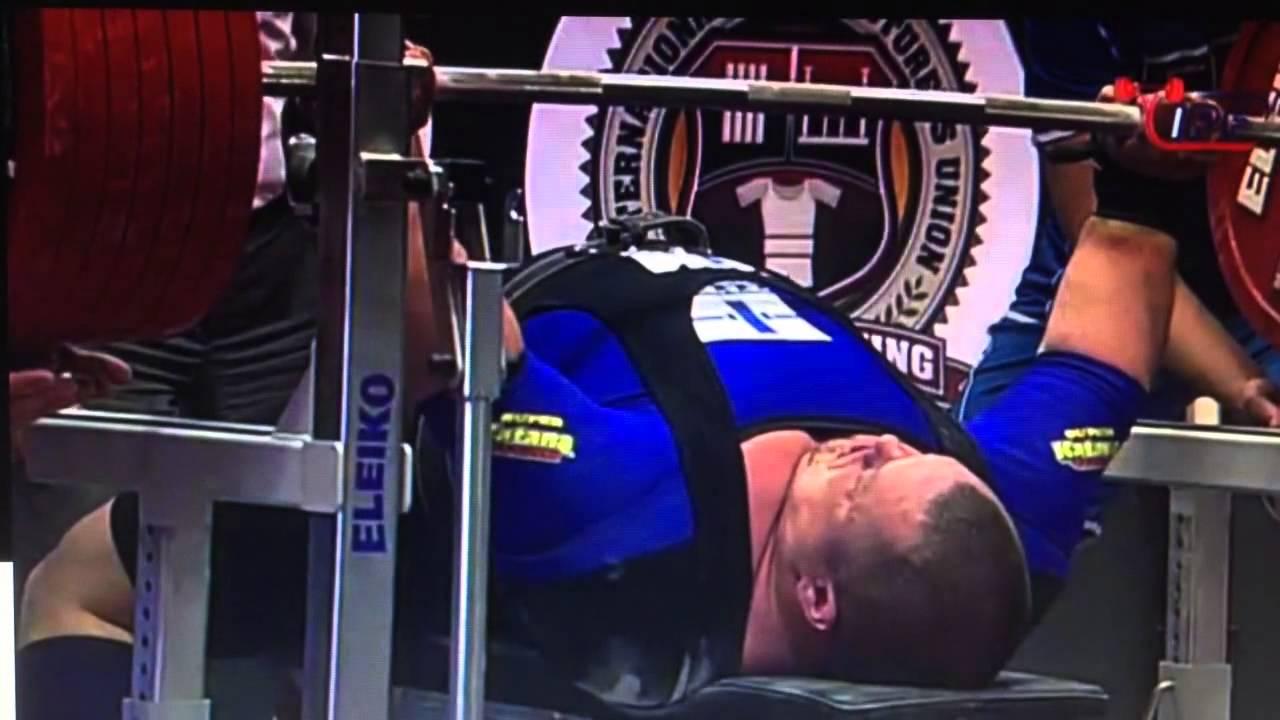 Fredrik Smulter 400kg / 882lbs bench press WORLD RECORD ...