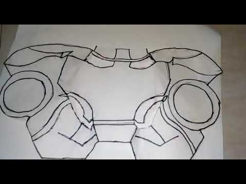 How to make a Iron man helmet with paper