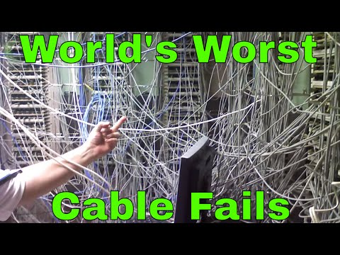 Scary Network Wiring and Cabling Fails in the IT Closet