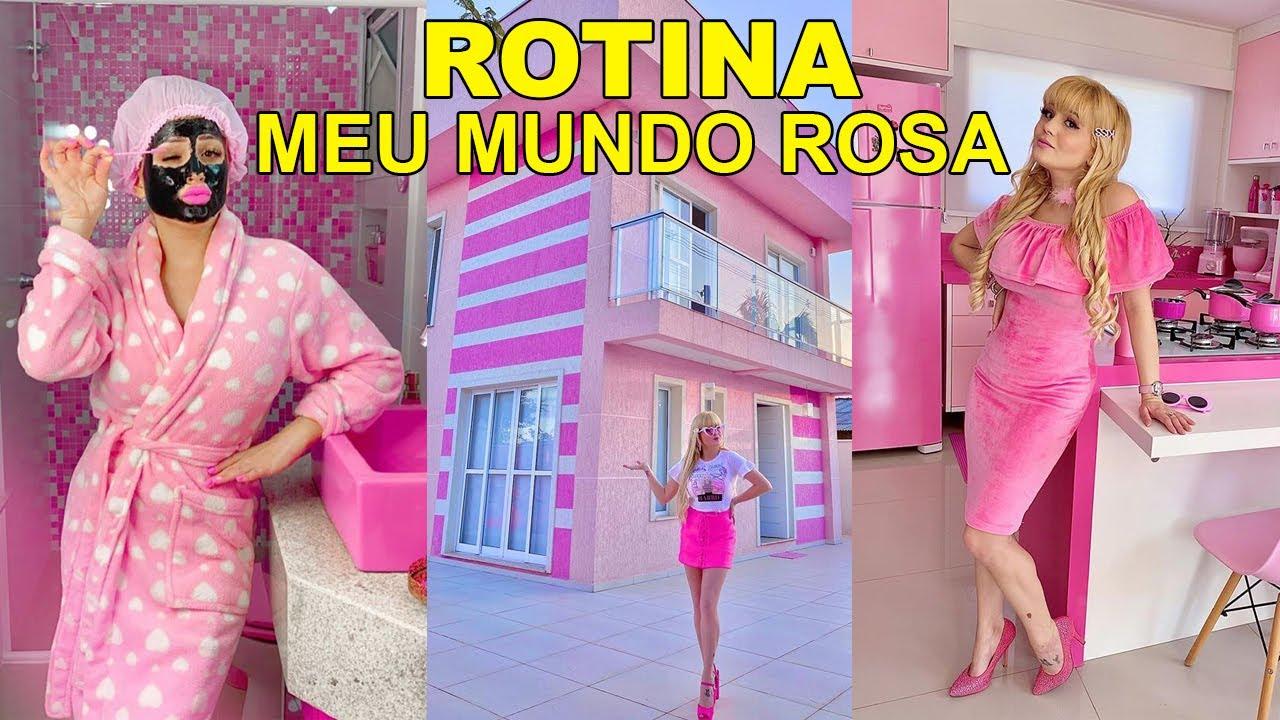 ROTINA NO MEU MUNDO COR DE ROSA   BRUNA BARBIE