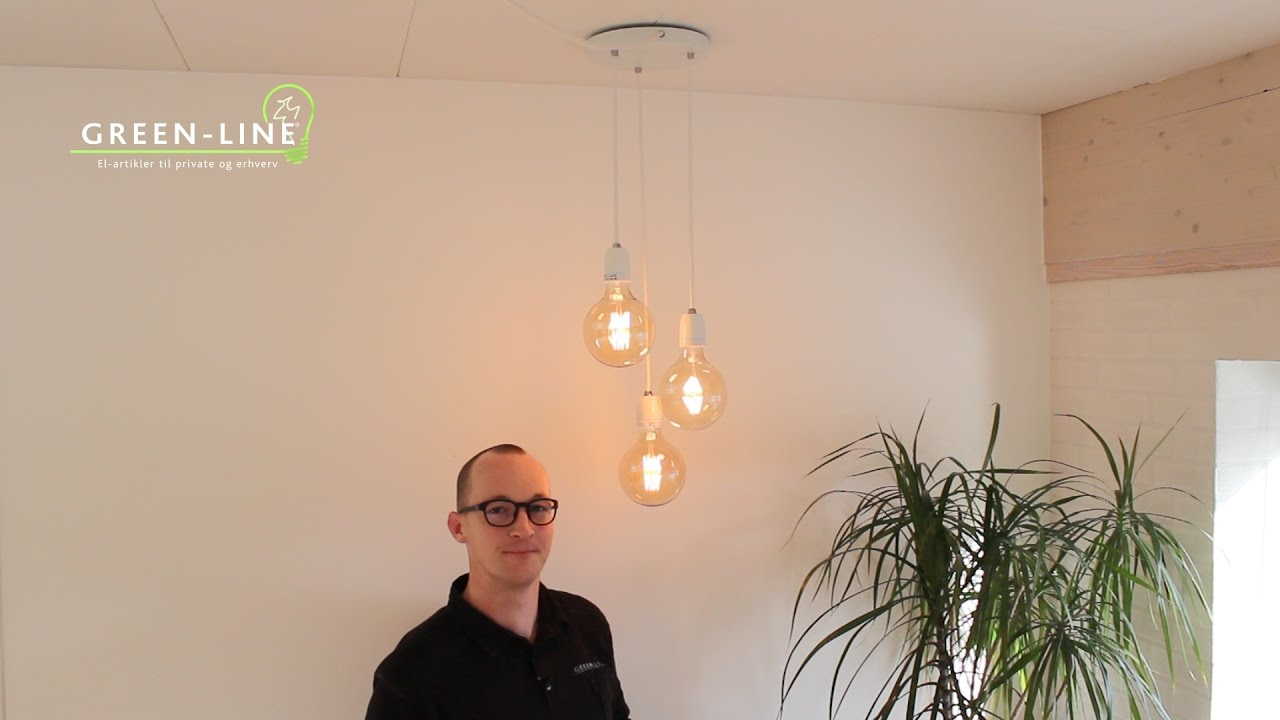 3 lamper i et udtag