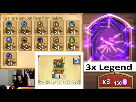 JT's Free 2 Play Hero Collector Crazy Session LVL 3 CREST BOX Castle Clash