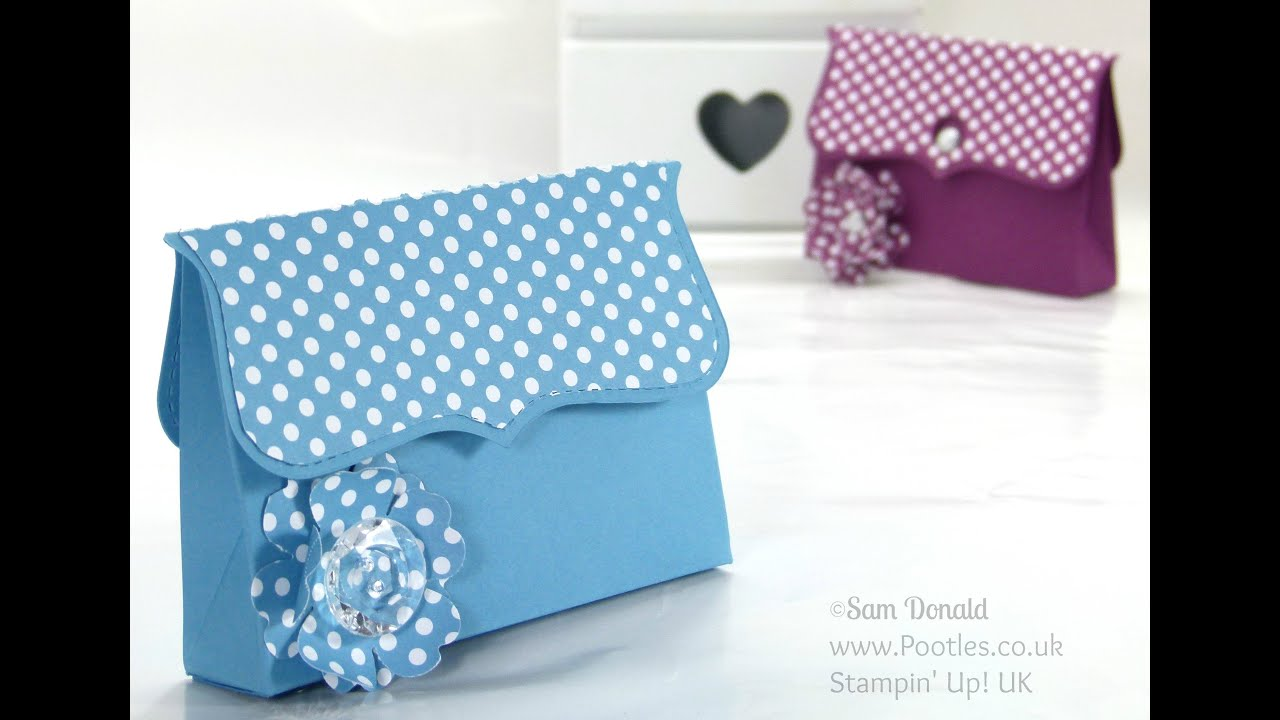 Clutch Bag Tutorial using ©Stampin Up Top Note DieYouTube