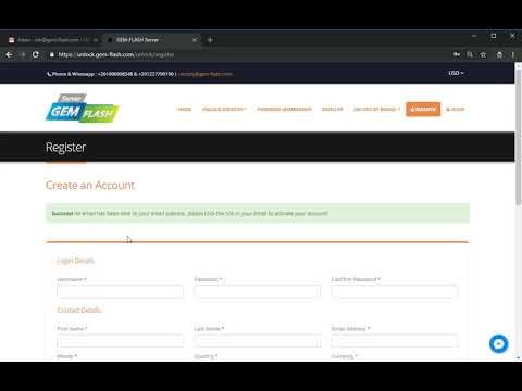 How To Register unlock GEM FLASH com Server كيفية التسجيل على الجيم فلاش  سيرفر
