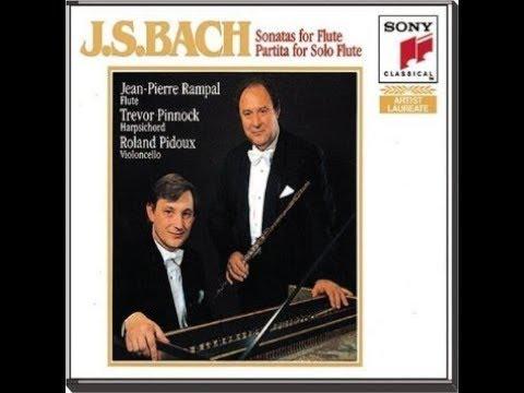 Johann Sebastian Bach, Flute Sonata BWV 1033, C-major, Rampal, Pinnock , 1984