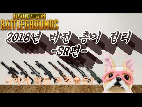 SR 등급 순위 총기 정리 무기 리뷰 2018버전