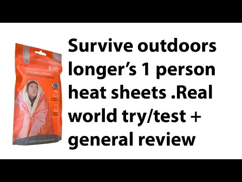 Survive outdoor longer 1 person heat sheets  test/general review