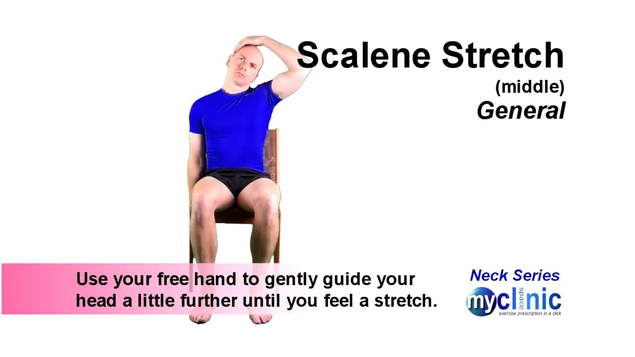 Neck Series - Middle Scalene Stretch - YouTube