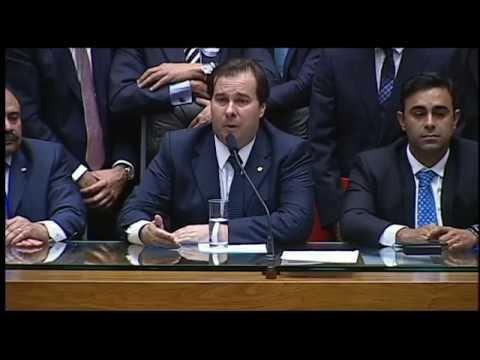 Ouça pronunciamento de Rodrigo Maia feito logo após ser eleito presidente da Câmara