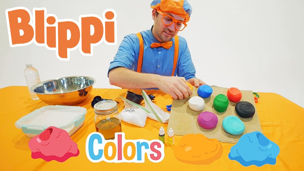Blippi Learning Shapes And Colors With Clay | Arts And Crafts Videos For Kids