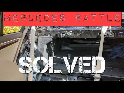 Mercedes Benz Rear Deck Rattle Noise Solved Youtube