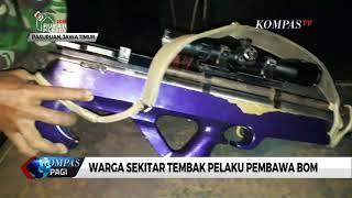 Pelaku pemilik bom berinisal awd dipastikan terluka, akibat tembakan dari warga sekitar yang menggunakan senapan angin. angin diguna...