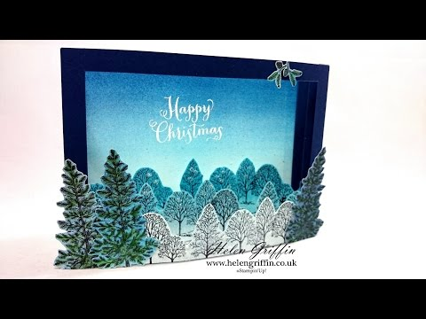 3D Forest Christmas Card Tutorial With Stampin'Up!