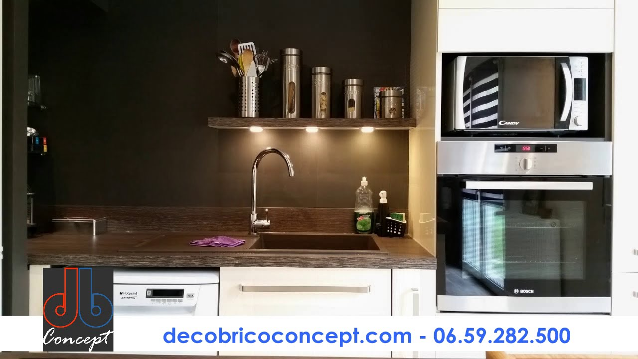 deco brico concept r novation compl te cuisine caen youtube. Black Bedroom Furniture Sets. Home Design Ideas