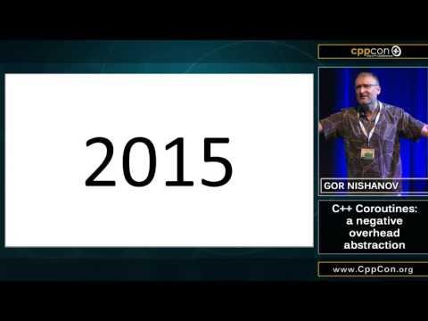 "CppCon 2015: Gor Nishanov ""C++ Coroutines - A Negative Overhead Abstraction"